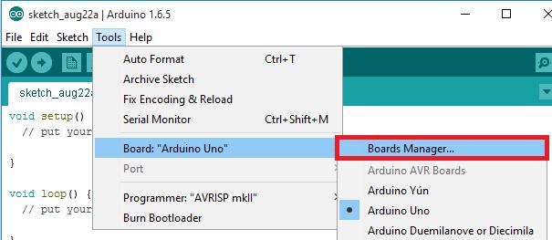 cài đặt thư viện esp8266 cho arduino