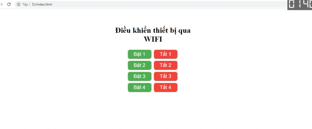 webserver với esp8266