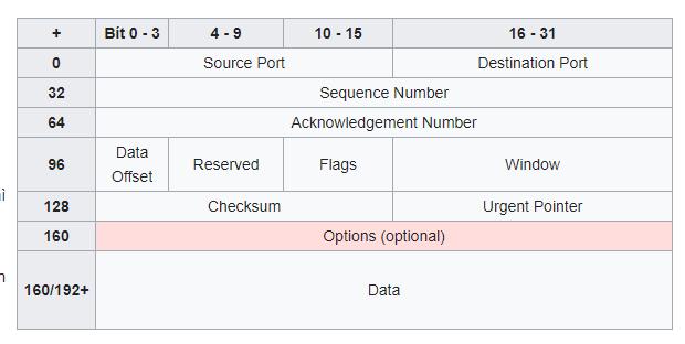 Cấu trúc gói tin TCP